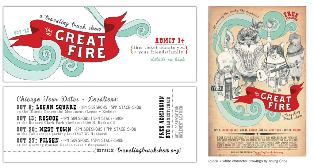 The Great Fire ticket + poster